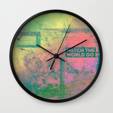 Watch The World Go By Wall Clock