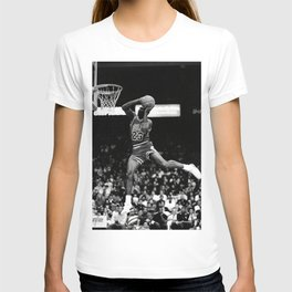 Micha-el Jordan Fly Dunk Basketball Poster Paintings Art Wall Art Canvas Wall Pictures For Living Room Home Decor (No Frame) T-shirt