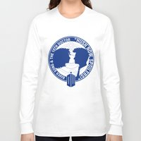 river song Long Sleeve T-shirts featuring Doctor Who pals: The 10th doctor & River Song by logoloco
