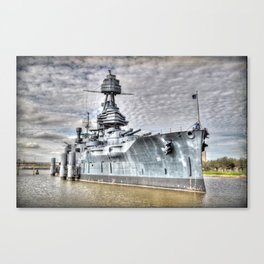 Battle Ship Texas Canvas Print