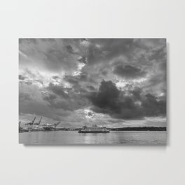 Elliott Bay Ferry Metal Print