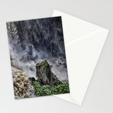 Chaotic water view Stationery Cards
