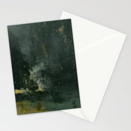 Nocturne In Black And Gold The Falling Rocket By James Mcneill Whistler | Reproduction Stationery Cards