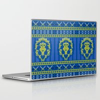 warcraft Laptop & iPad Skins featuring Ugly Sweater 1 by SlothgirlArt