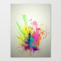 splatter Canvas Prints featuring Splatter by smARTwork Designs