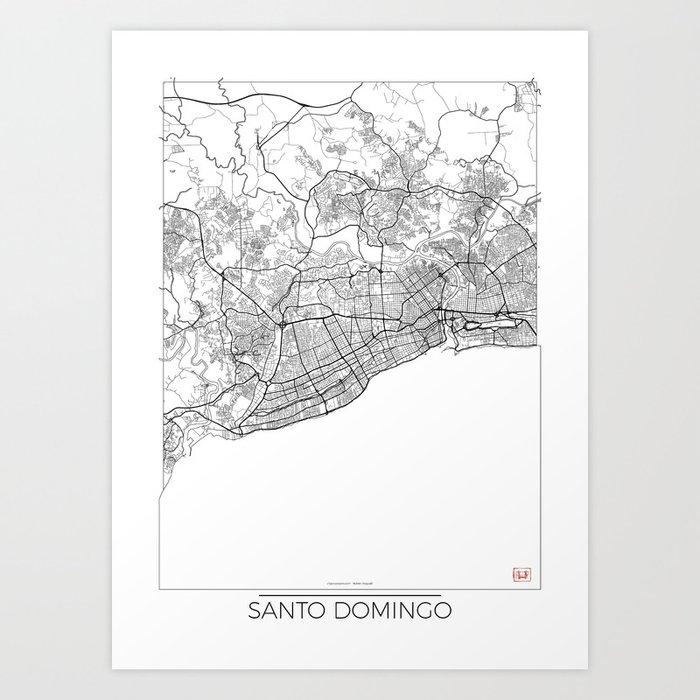 Santo Domingo Map White Art Print by hubertroguski on managua map, la romana map, yucatan peninsula map, san salvador map, el salvador map, la havana map, port au prince on map, saint-domingue map, jamaica map, dominican republic map, caribbean map, punta cana map, havana cuba map, san juan map, quito map, belmopan map, toronto map, haiti map, puerto rico map, caracas map,