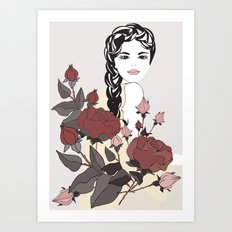 Virgo Lady | Zodiac Sign | Horoscope Art | September  Art Print