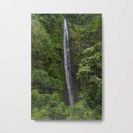 Stunning Plunging Waterfall Metal Print