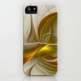 Abstract With Colors Of Precious Metals 2 iPhone Case
