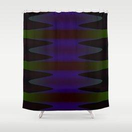 Inward Waves Shower Curtain