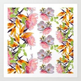 Lush Watercolor Florals Art Print