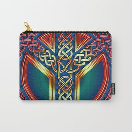 Peace Symbol - Metallic Celtic Knot Carry-All Pouch