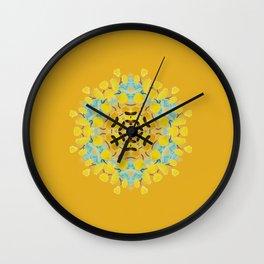bee's flwer alone Wall Clock