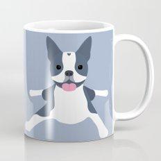 blue boston terrier Mug