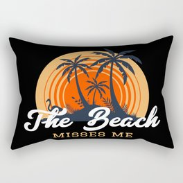 The Beach Misses Me for Tropical Sunsets Rectangular Pillow