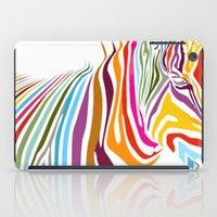 zebra iPad Cases featuring Zebra by graphicinvasion
