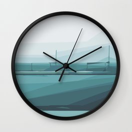 green and blue pattern abstract background Wall Clock