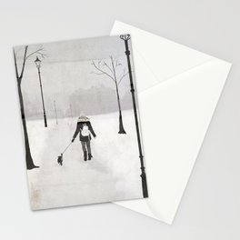 Winter Walk Stationery Cards