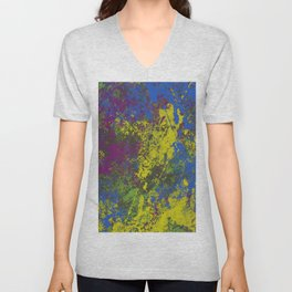 Clouded Judgement - Abstract Modern Painting Unisex V-Neck