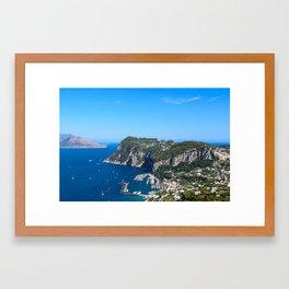Blue Skies in Capri, Italy Framed Art Print