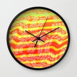 Lights on stripes Wall Clock