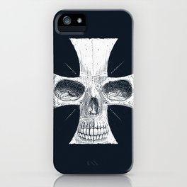 skull and cross iPhone Case