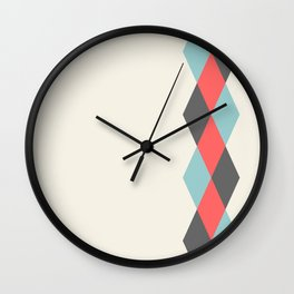 Weaving Diamonds Wall Clock