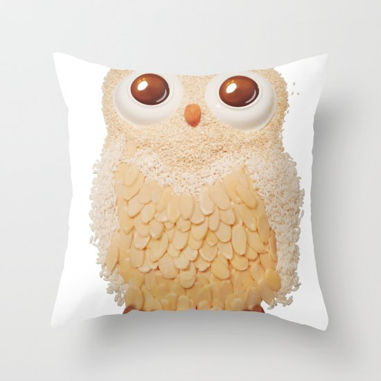 Owl Collage #5 Throw Pillow