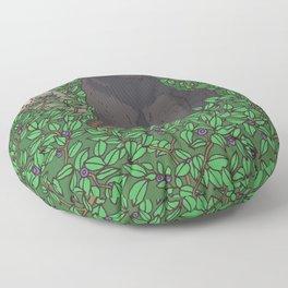 Black Bear & Huckleberry Floor Pillow