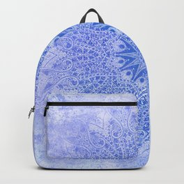 star mandala monochrome in blues Backpack
