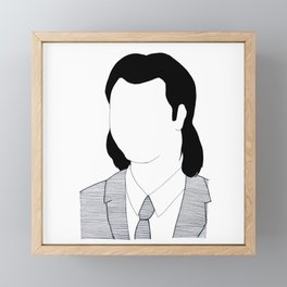 Vincent Vega - Pulp Fiction Framed Mini Art Print