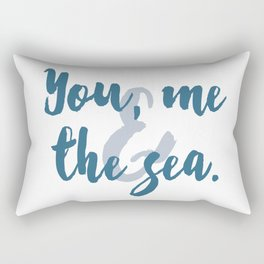 You, Me & the Sea Rectangular Pillow