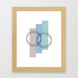 Illustration os a sweet abstract design geometrical with circles and lines Framed Art Print