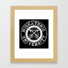 Miskatonic University Emblem (Dark version) Framed Art Print
