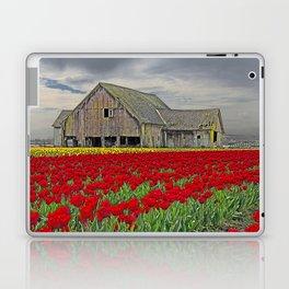RED TULIPS AND BARN SKAGIT FLATS Laptop & iPad Skin