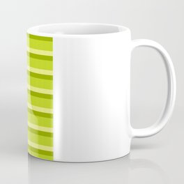 Lime Green Stripes Coffee Mug