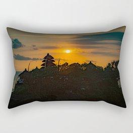 Tanah Lot Sunset Rectangular Pillow