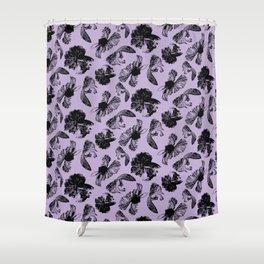 Beta Fish Lavender Shower Curtain