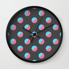 Yin Yang look-a-like Wall Clock