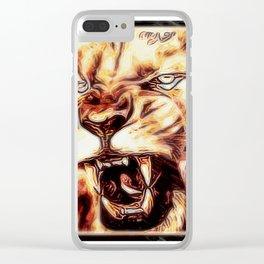 Big Cat Models: Mad Lions 01-02 Clear iPhone Case