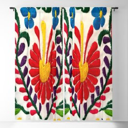 Red Mexican Flower Blackout Curtain