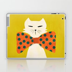 Cat with incredebly oversized humongous bowtie Laptop & iPad Skin