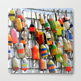 COLOURFUL FISHING FLOATS Metal Print