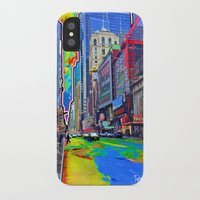 Times Square Paint Spill iPhone X Slim Case