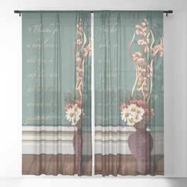 An Ache for a Home Sheer Curtain