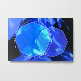 Blue crystal Metal Print
