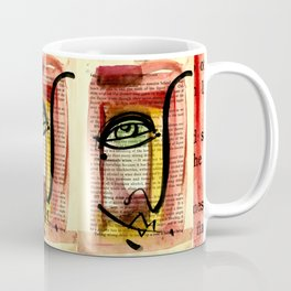 """Funky Face Abstract, """"I See 35"""" by Kathy morton Stanion Coffee Mug"""