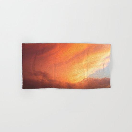 Celestial Fire Clouds Hand & Bath Towel