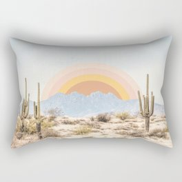 Arizona Sun rise Rectangular Pillow
