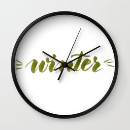 Winter - green Wall Clock